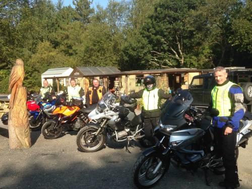 Two Hoots Tea Room, Vale of Rheidol Railway Station, Bikers, Devils Bridge,