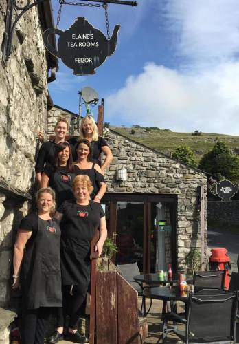 Elaines Tea Rooms, Biker Friendly, Feizor, Austwick, North Yorkshire