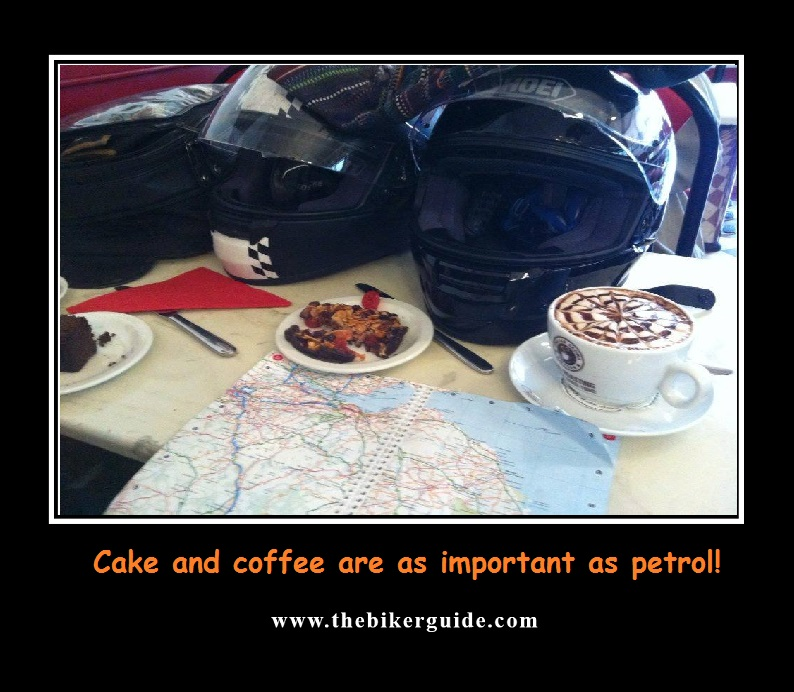 Cake and coffee are as important as petrol
