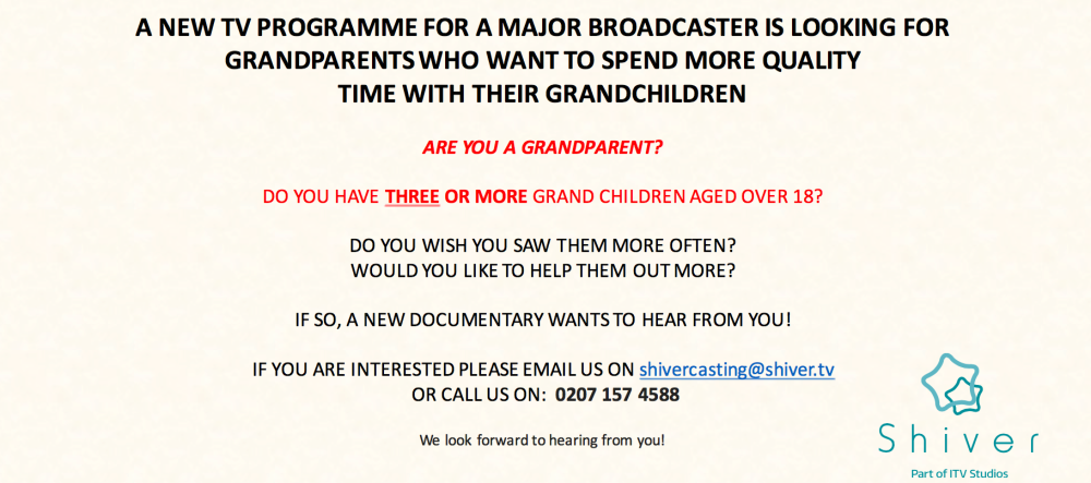 New Television Documentary Programme – Gran Knows Best