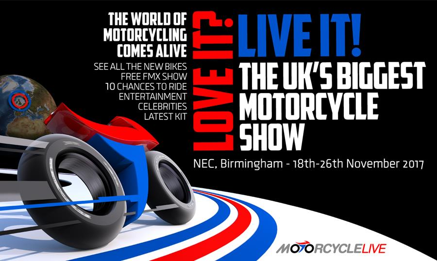 Motorcycle Live - under three weeks away