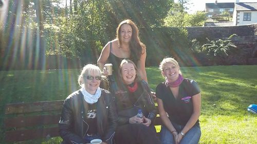 Helen Cullen, Sarah Cowell, Roz Shaw and Jackie Paterson of the Curvy Rider