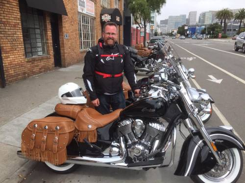 Gary Green, getting ready for a week long road trip in San Francisco to Las