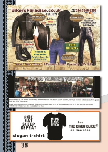 THE BIKER GUIDE - 7th edition, Motorcycle Clothing