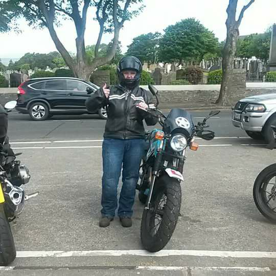 Jan Smyth - This is me after my first lap of the TT course on the Isle of M