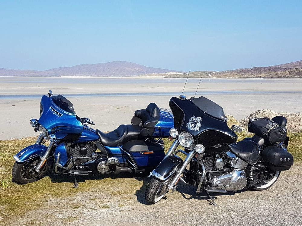 Harleys in the Outer Hebrides