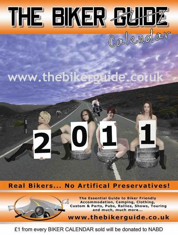 THE BIKER CALENDAR 2011: Cover Biker Babes are Sam Henshaw, Lorna Bates, Sh