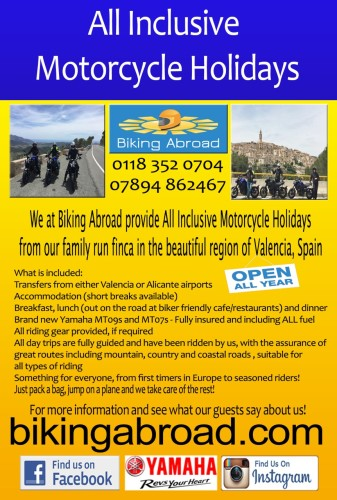 THE BIKER GUIDE - 7th edition, Biking Abroad, Touring, Spain