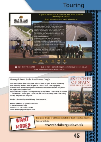 THE BIKER GUIDE, 7th edition, Touring, Travel Books,