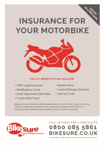 THE BIKER GUIDE - 7th edition, Bikesure, Motorbike insurance