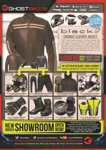 THE BIKER GUIDE, 7th edition, Ghost Bikes, Motorcycle Clothing