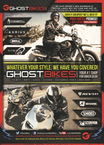THE BIKER GUIDE, 7th edition, Ghost Bikes, Motorcycle Clothing, accessories