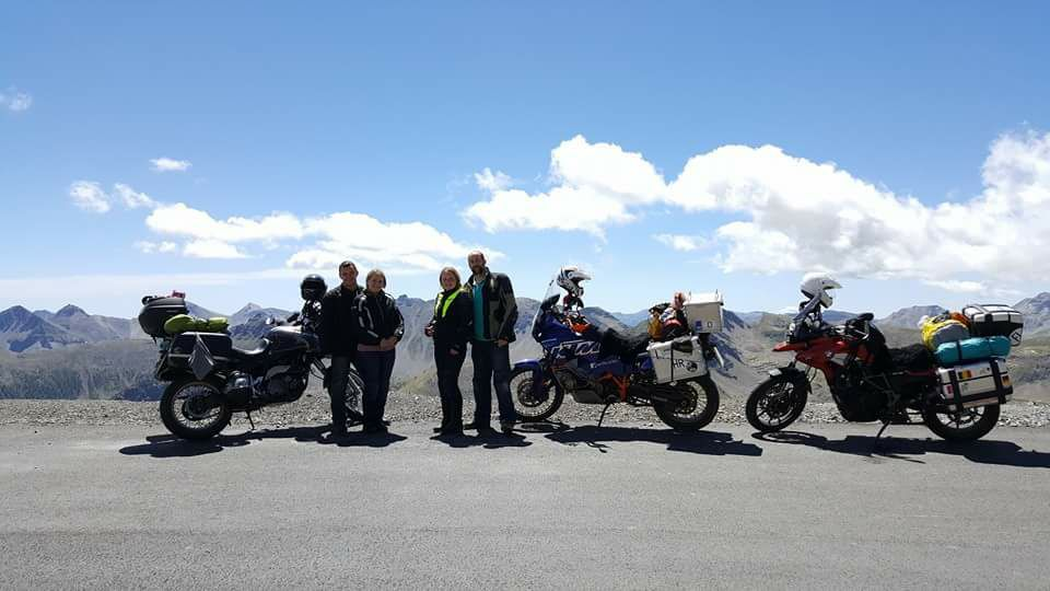 At the top of the Cime de la Bonette, French Alps