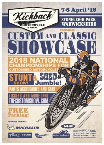 Kickback Motorcycle Show 2018 - National Championships of Custom Motorcycle