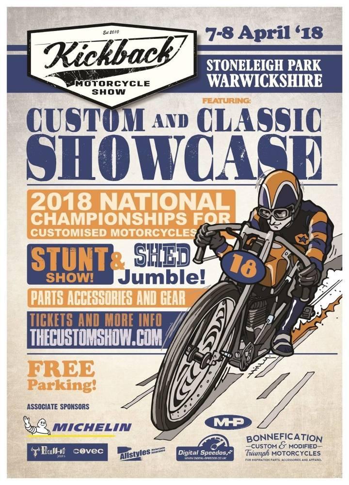 Kickback Motorcycle Show 2018 - National Championships of Custom Motorcycle