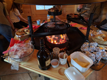 Loch Ness Glamping, barbecue whatever the weather, Inverness