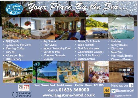 Langstone Cliff Hotel, Bikers welcome, Dawlish, Devon, groups