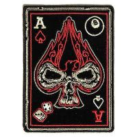 PATCHERS, Ace of Spades Skull Patch, Biker