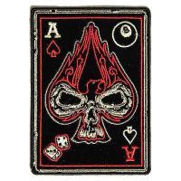 PATCHERS, Ace of Spades Skull Patch, Biker