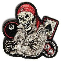 PATCHERS, King of The Road Skull, Biker Patch