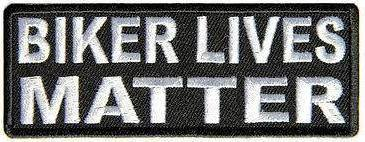 PATCHERS, Biker lives matter, embroidered patch