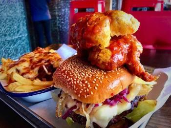 Sams Diner, Saint Austell, Cornwall, Bikers welcome,