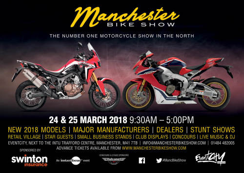Manchester Bike Show 2018 - The number one Motorcycle event in the North of