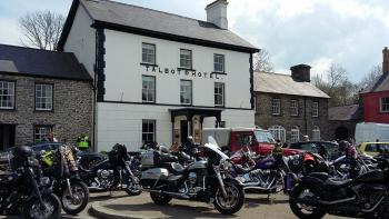 Y Talbot, Bikers Welcome, Ceredigion, Wales