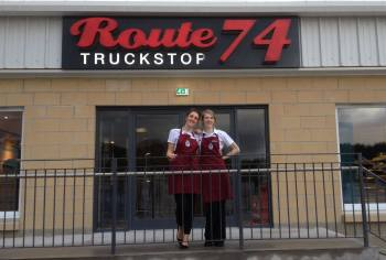 Route 74 Truckstop, Bikers welcome, Lesmahagow, Lanarkshire M74