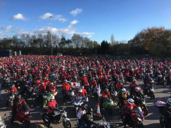 Ring of Red around the M60 - Remembrance Sunday, Greater Manchester