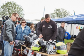 MCN Scottish Festival of Motorcycling - The massive retail zone offers bar