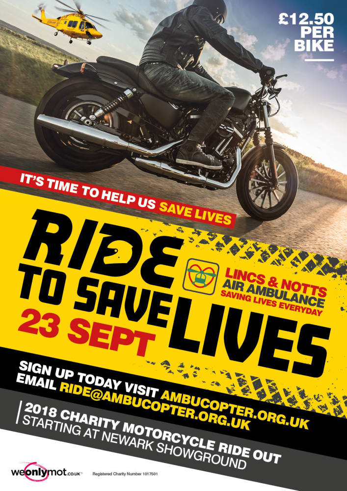 Ride To Save Lives - Lincs and Notts Air Ambulance, ride out across the cou