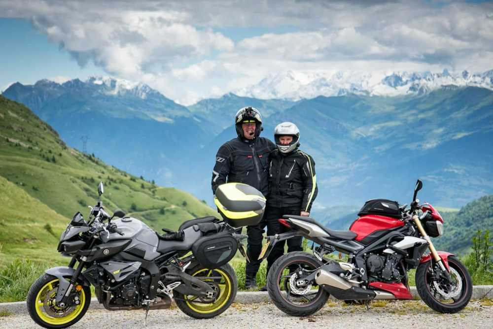 Richard Higgott - Me and the Mrs top of the Col de la Madeleine France