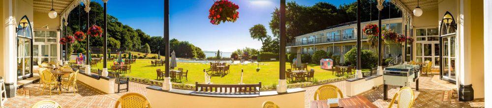 Langstone Cliff Hotel, Biker Friendly, Dawlish, Devon, view to the sea