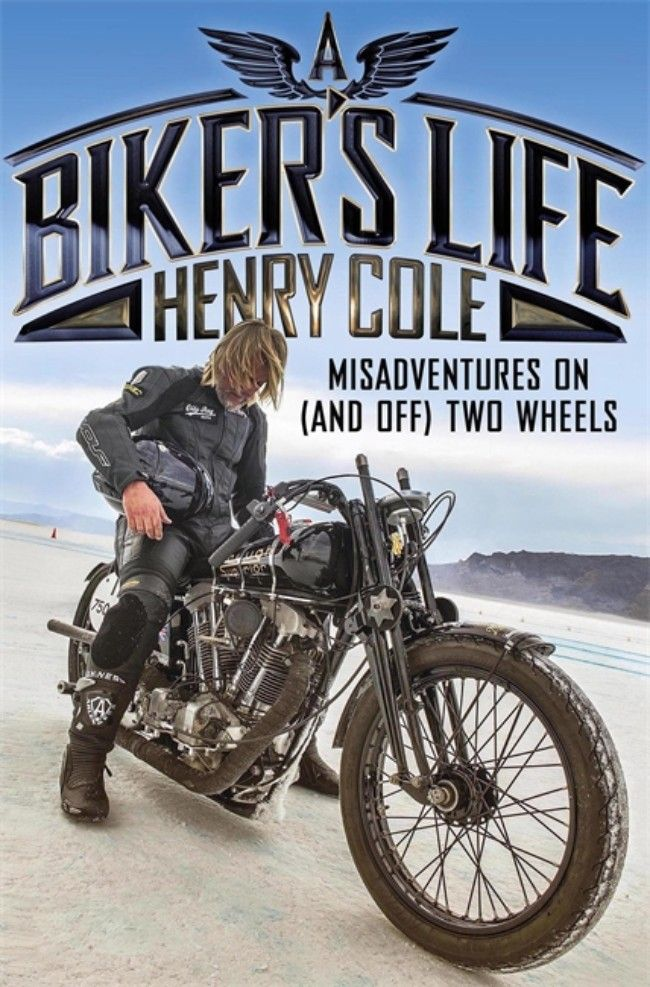 Henry Cole signing A Biker's Life