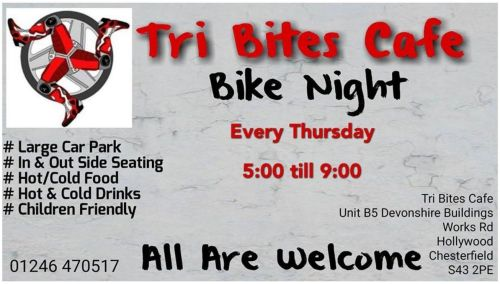 Tri Bites Cafe, Bike Event, Chesterfield, Derbyshire