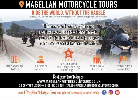 Magellan Motorcycle Tours, France, Germany, Italy, Spain, Americas, USA