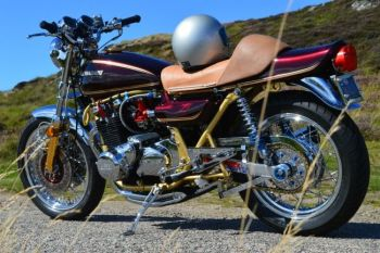 Stonechats Croft, Biker owner, NC500, Sutherland, Scotland