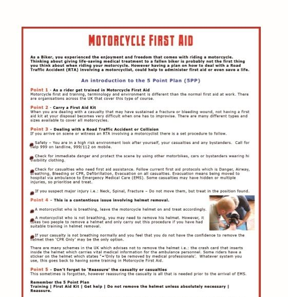 Motorcycle First Aid