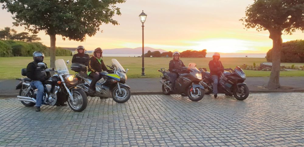 Mike, Helen, Jack, Phil and Andy at Silloth Cumbria