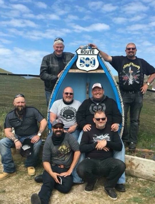 Craig, Steve, Fran, Stuart, Jason, Paul and Steve of Harley Davidson Riders
