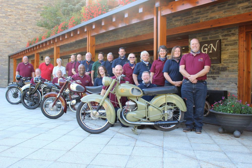 Tony Richardson and the Surrey Riders during their Pyrenees trip at the Hot