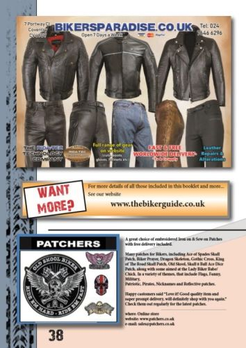 THE BIKER GUIDE - 8th edition, Motorcycle Clothing