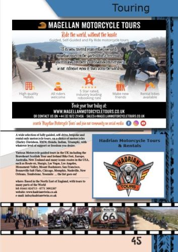 THE BIKER GUIDE - 8th edition, Motorcycle Touring