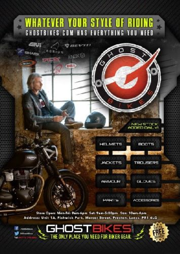THE BIKER GUIDE - 8th edition, Ghost Bikes, Motorcycle Clothing