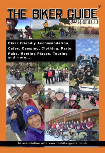 <!-- 001 -->1 of - THE BIKER GUIDE booklet - 8th edition - FREE (P&P £1.65 UK)