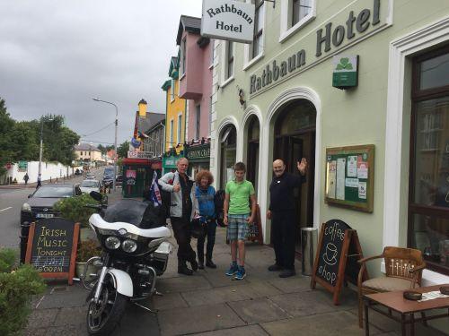 Rathbaun Hotel, Bikers welcome, Co Clare, Ireland