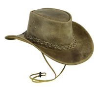 Cowboy Western Aussie Style, Crazy Horse Leather Hat