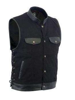 Leatherick, Biker Leather Waistcoats, denim