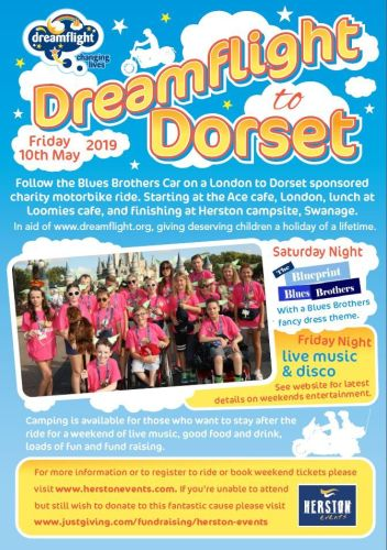 Dreamflight to Dorset, Charity motorbike ride, Ace Café London to Swanage D